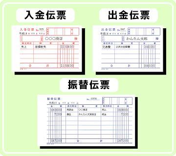 ●「入出金伝票」・「振替伝票」を入力すると・・・・・「現金出納帳」「預金出納帳」が出来上がります
